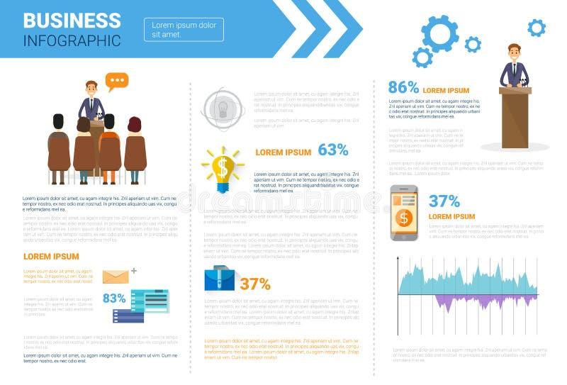 Дело Infographics установленное с космосом экземпляра для концепции семинара встречи представления иллюстрация штока