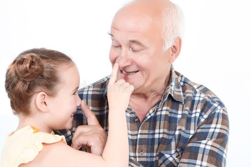 Дед с его грандиозной дочерью стоковое изображение rf