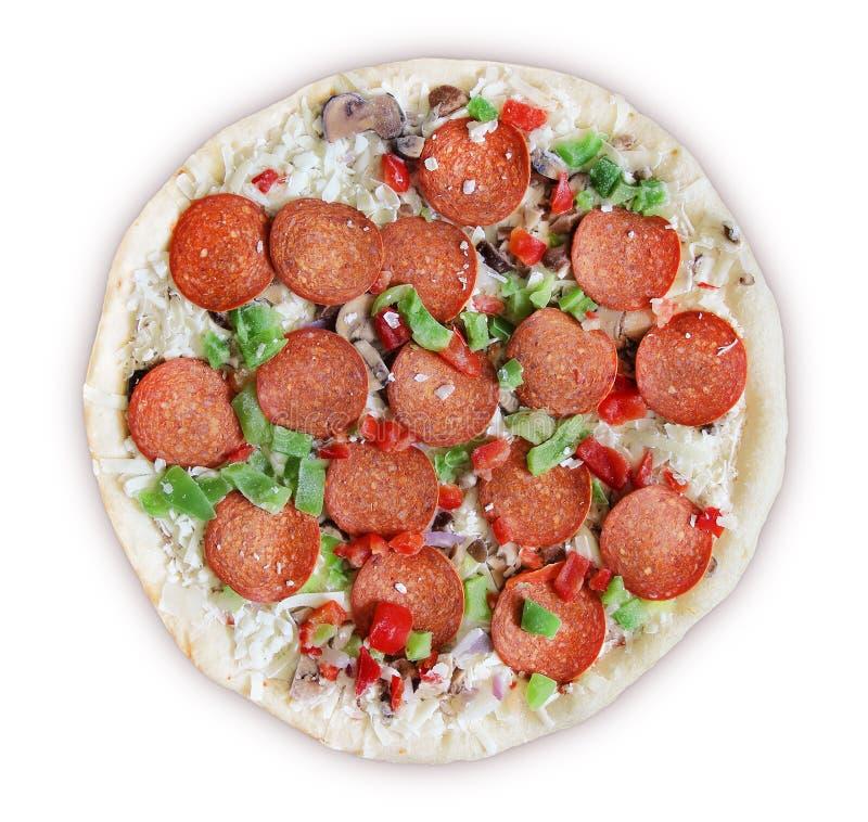 Делюкс замерли пицца -, который стоковое изображение rf