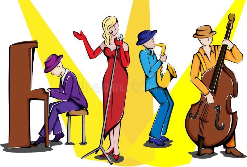 джаз ансамбля иллюстрация вектора