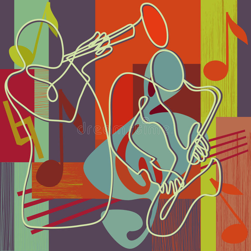 джаз иллюстрации празднества иллюстрация вектора