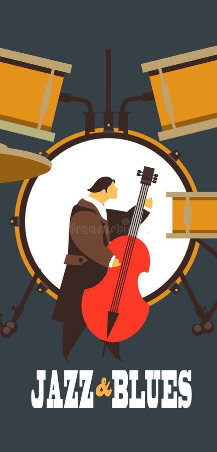 Джаз и син бесплатная иллюстрация