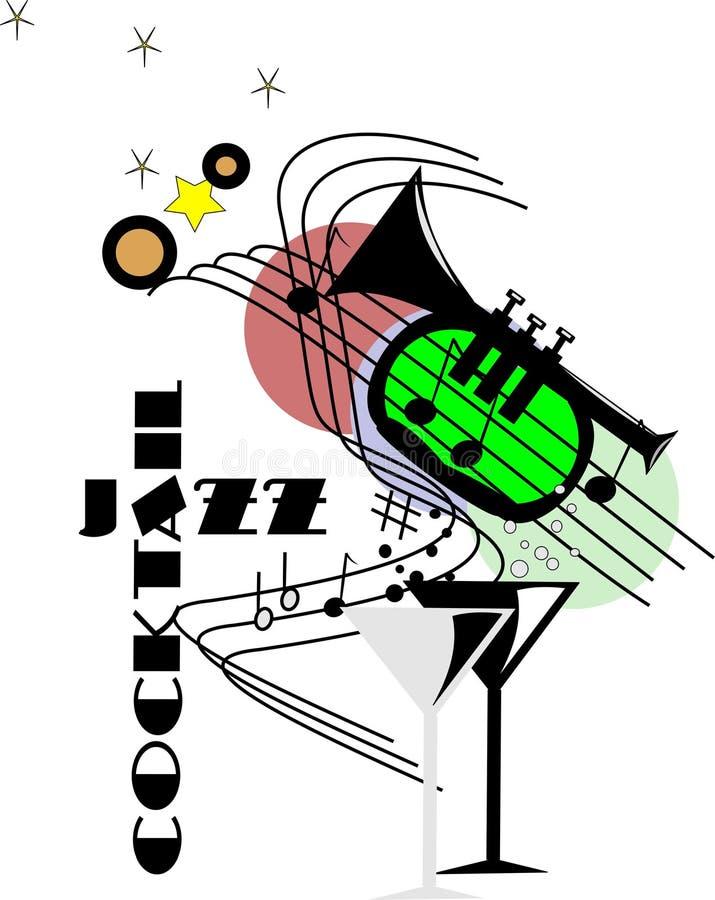 джаз коктеила иллюстрация штока