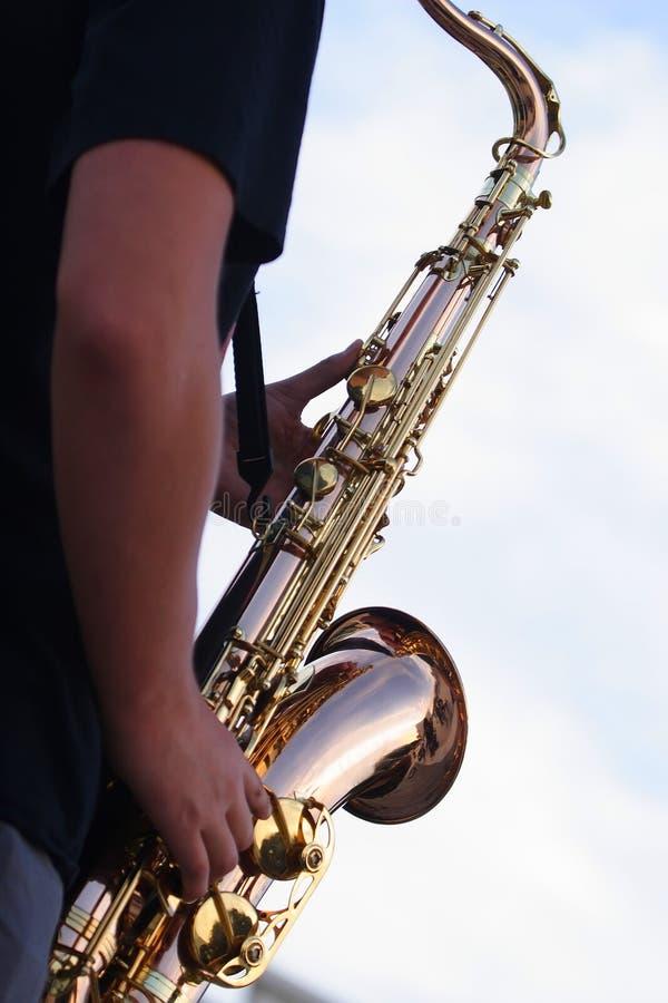 Джаз на городской площади стоковая фотография