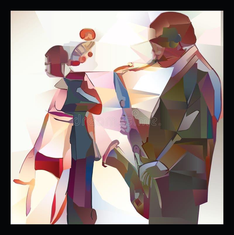 Джаз с саксофоном и двух-басом бесплатная иллюстрация