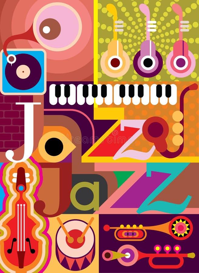 Джаз иллюстрация вектора