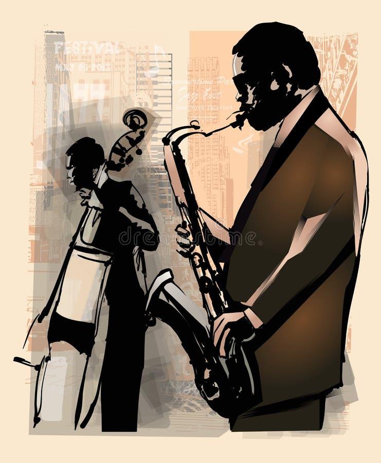 джаз New York иллюстрация штока