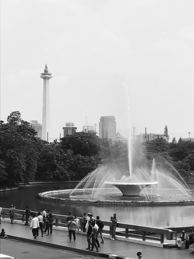 Джакарта в monochrome стоковое фото