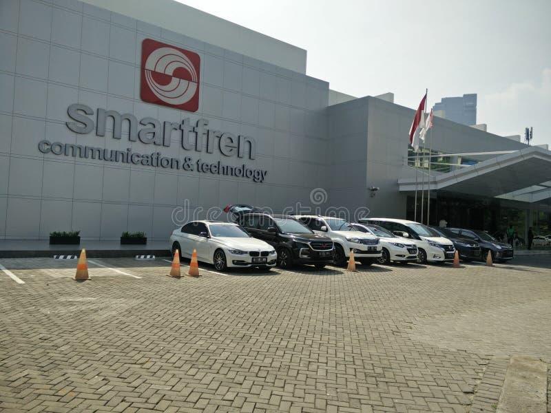 Джакарта/Индонезия 15-ое июля 2019 smartfren головной офис, sabang Джакарта стоковые фотографии rf