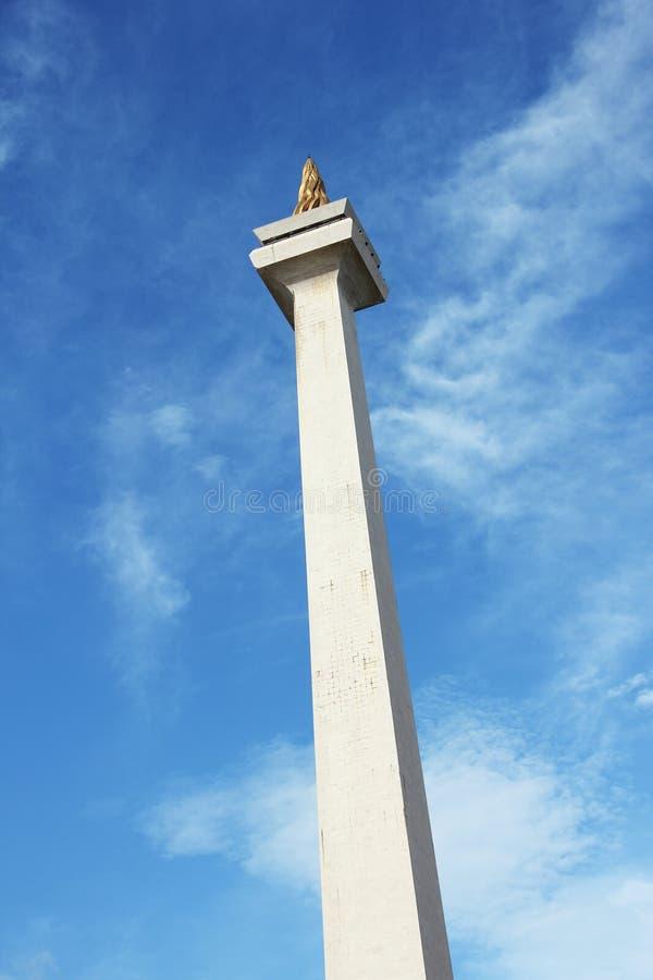ДЖАКАРТА, 26-ое декабря 2017 Башня национального монумента Индонезии стоковые фотографии rf