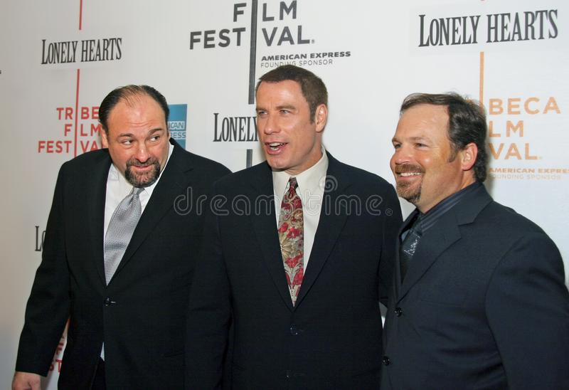 Джеймс Gandolfini, John Travolta, и Тод Робинсон стоковые фотографии rf