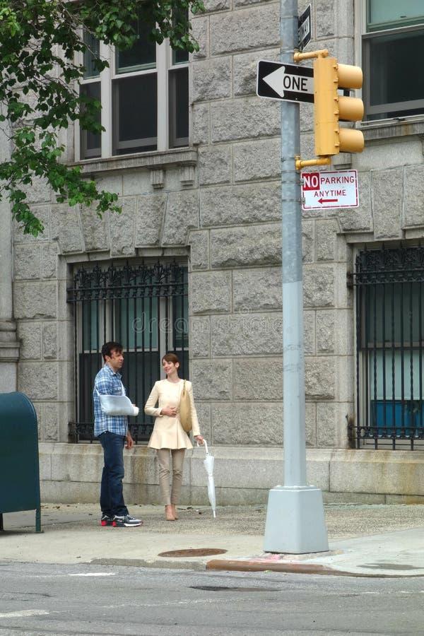 Джейсон Sudeikis и бри Alison стоковая фотография rf