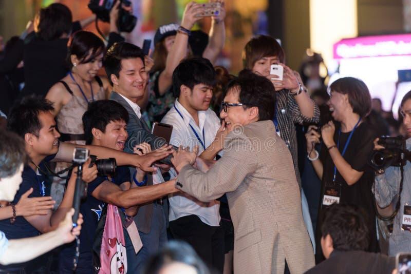 Джекии Chan на премьере лезвия дракона стоковое фото rf