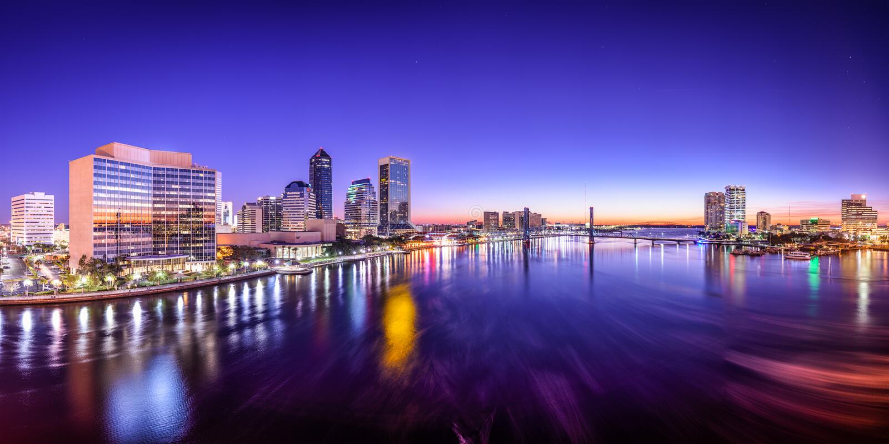 Джексонвилл, горизонт Флорида стоковые изображения rf