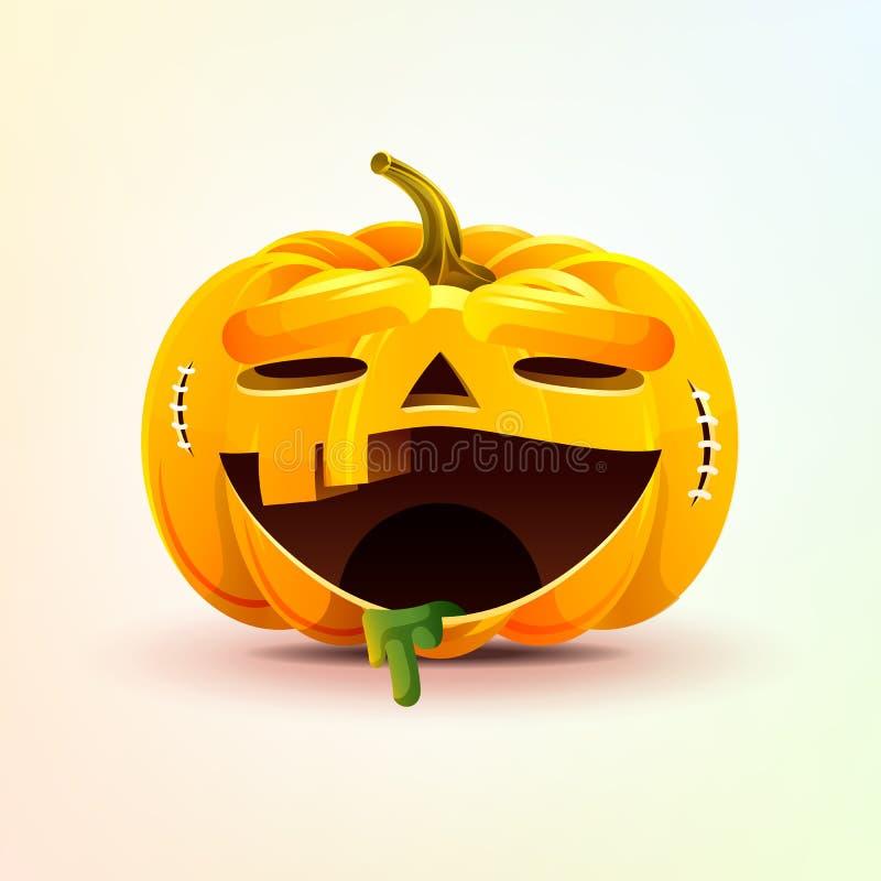 Джек-o-фонарик, ужасная тыква smiley выражения лица бесплатная иллюстрация