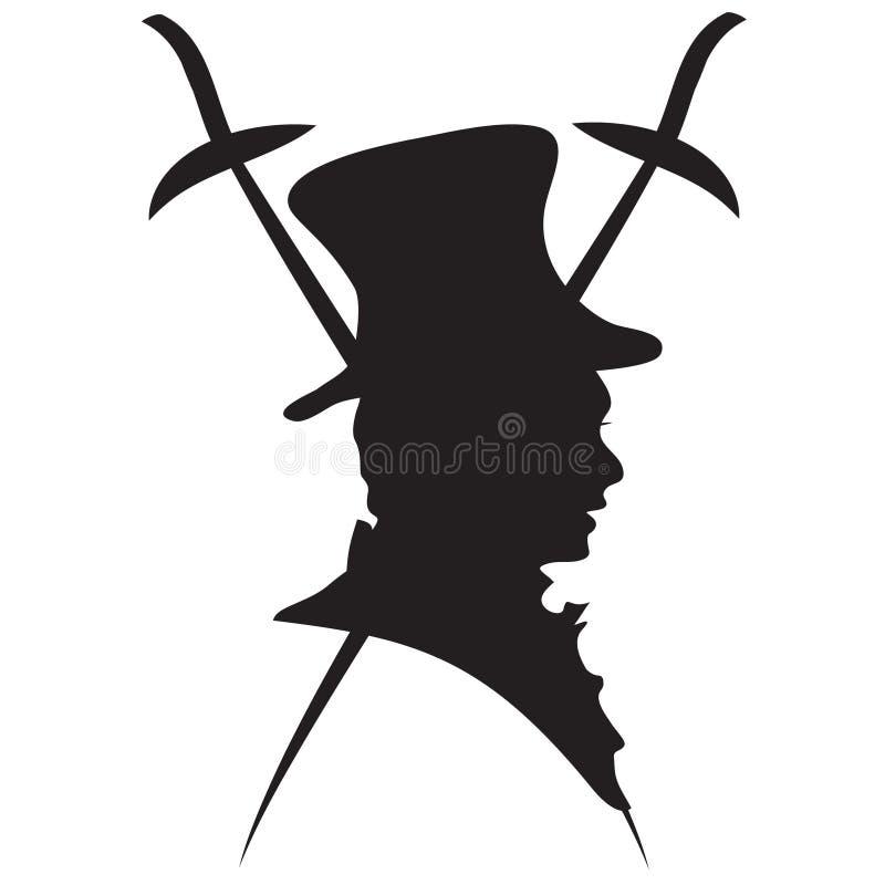 Джентльмен логоса с rapires бесплатная иллюстрация