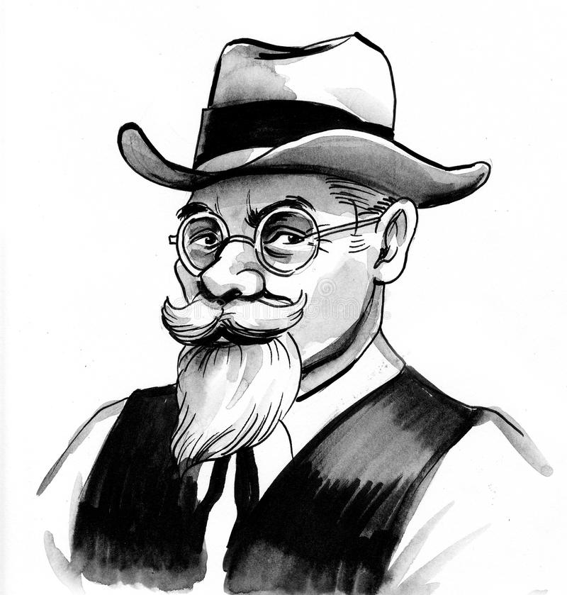 джентльмен старый иллюстрация вектора