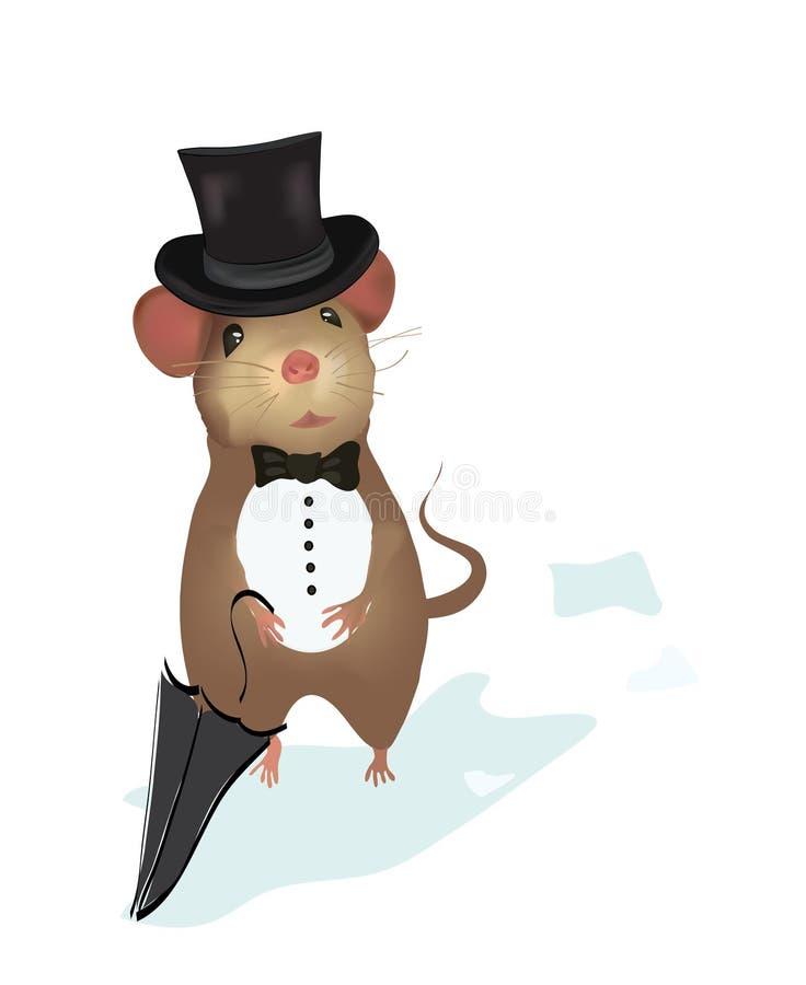 Джентльмен мыши.  Иллюстрация мыши иллюстрация вектора