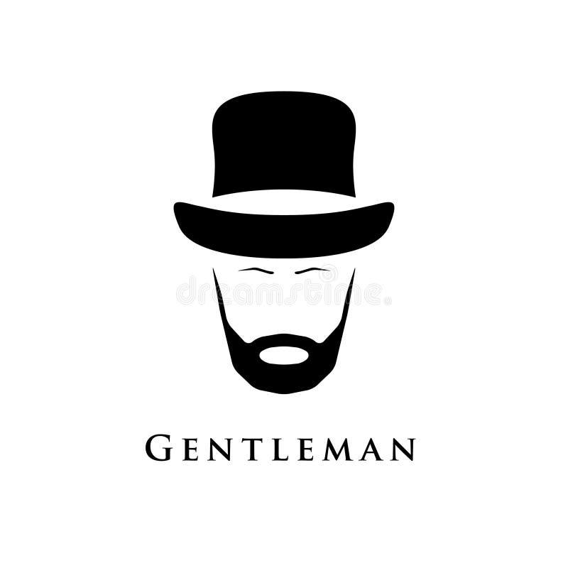 Джентльмен с бородой и в шляпе бесплатная иллюстрация
