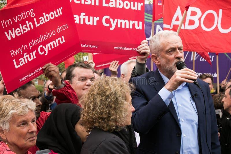 Джереми Corbyn посещает общее Whitchurch, Кардифф, южный уэльс, Великобританию стоковые фото