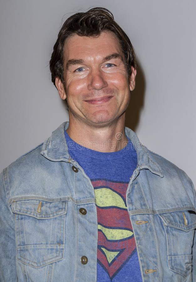 Джерри O'Connell на царствовании суперменов дает премьеру стоковое фото rf