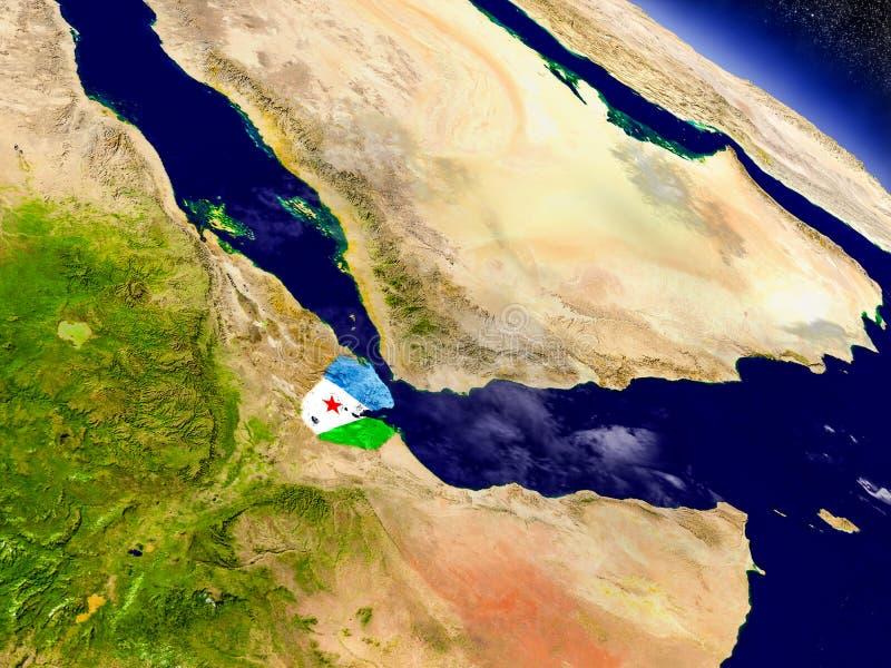 Download Джибути с врезанным флагом на земле Иллюстрация штока - иллюстрации насчитывающей природа, глобус: 81806769