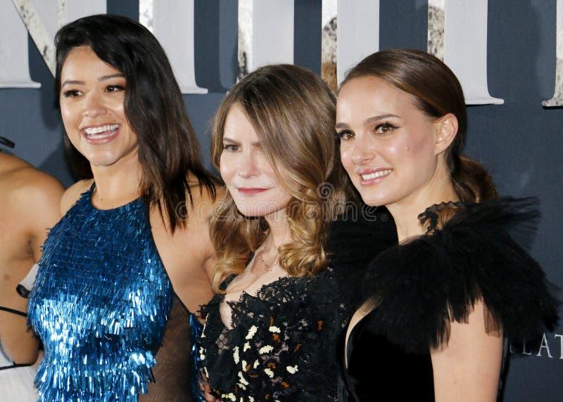 Джина Родригес, Дженнифер Джейсон Leigh и Натали Portman стоковое изображение