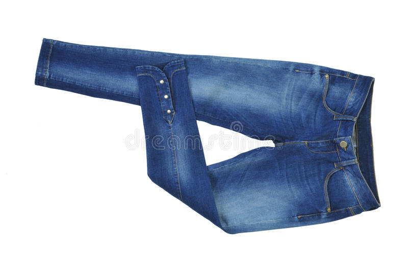 Джинсовая ткань задыхается женщины женские джинсы изолированные на белой предпосылке стоковые изображения