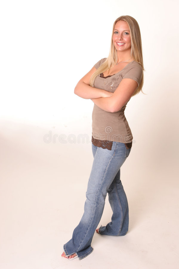 джинсыы тела полные предназначенные для подростков стоковая фотография