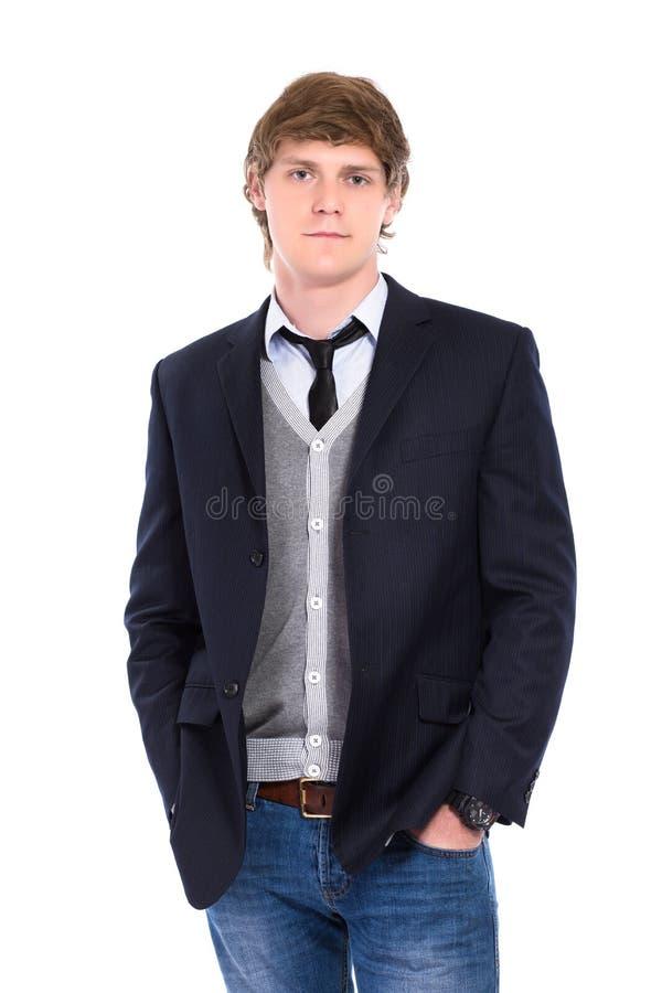 Джинсы и куртка человека нося стоковая фотография