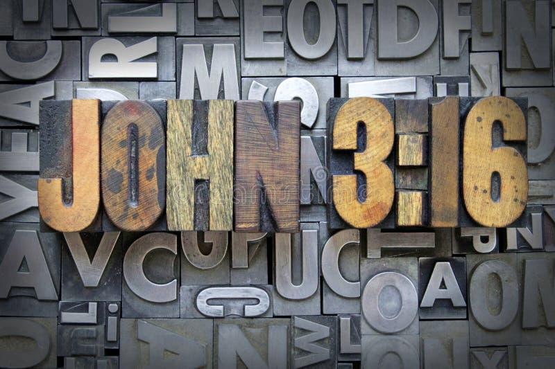 3:16 Джона стоковая фотография rf