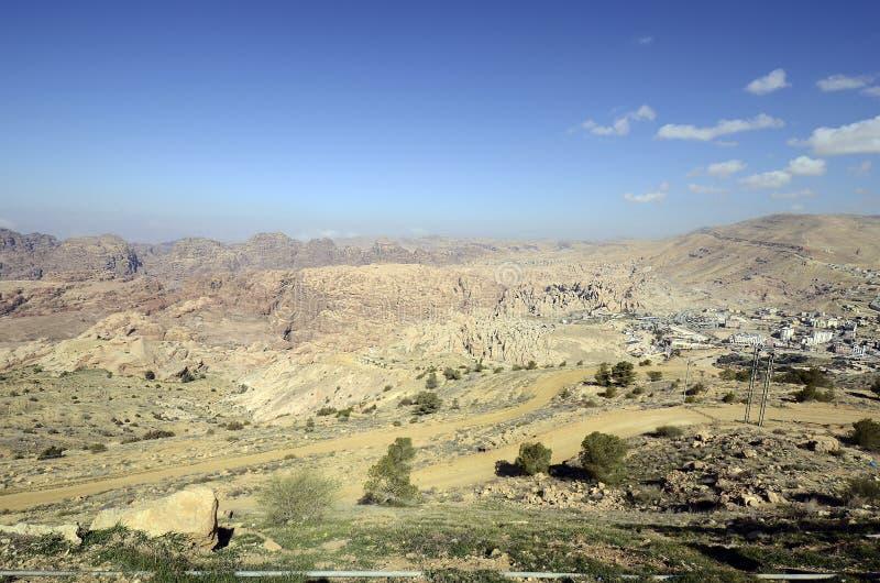 Джордан, Ближний Восток, ландшафт около вадей Musa стоковые фотографии rf