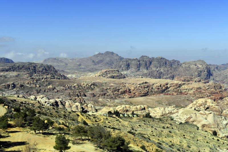 Джордан, Ближний Восток, ландшафт около вадей Musa стоковая фотография rf