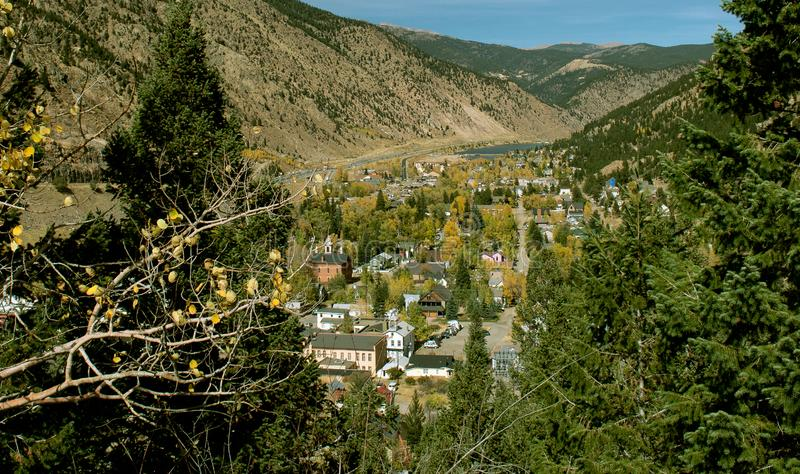 Джорджтаун, Колорадо осенью стоковое фото rf