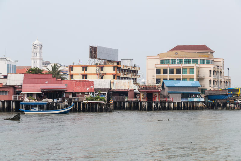 Джорджтаун, Penang/Малайзия - около октябрь 2015: Молы клана в Джорджтауне, Penang, Малайзии стоковое фото