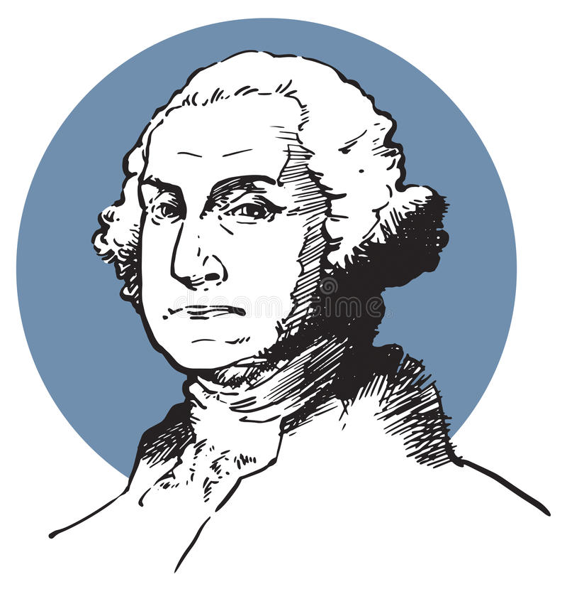 Джордж Вашингтон иллюстрация штока