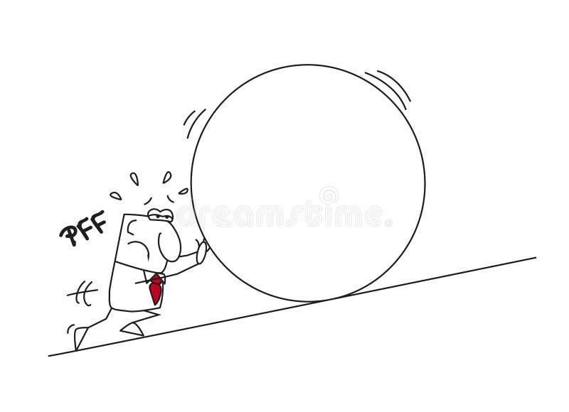 Джо и миф sisyphus бесплатная иллюстрация
