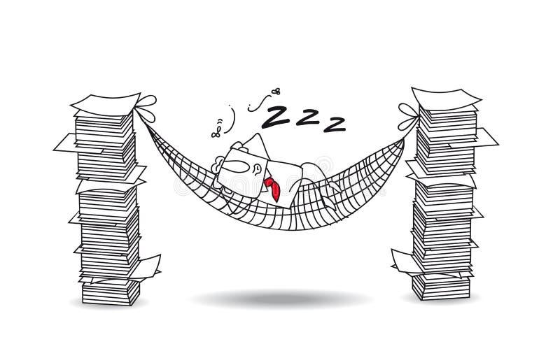 Джо спит в гамаке бесплатная иллюстрация