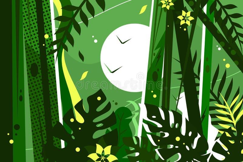 джунгли предпосылки зеленые иллюстрация штока