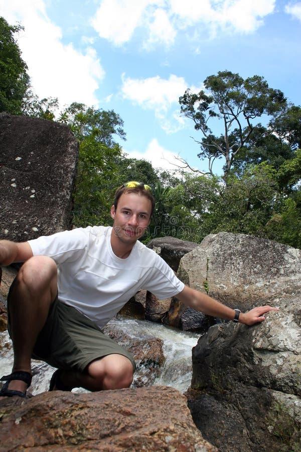 джунгли hiker стоковые изображения