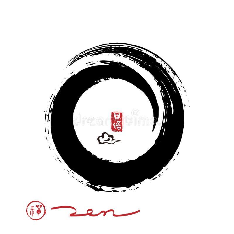 Дзэн вектора круга brushstroke бесплатная иллюстрация