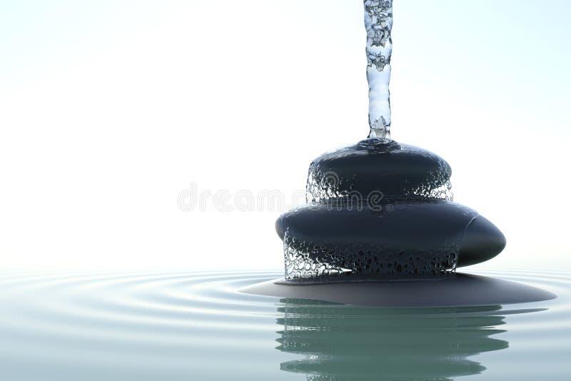 Дзэн водопада иллюстрация вектора
