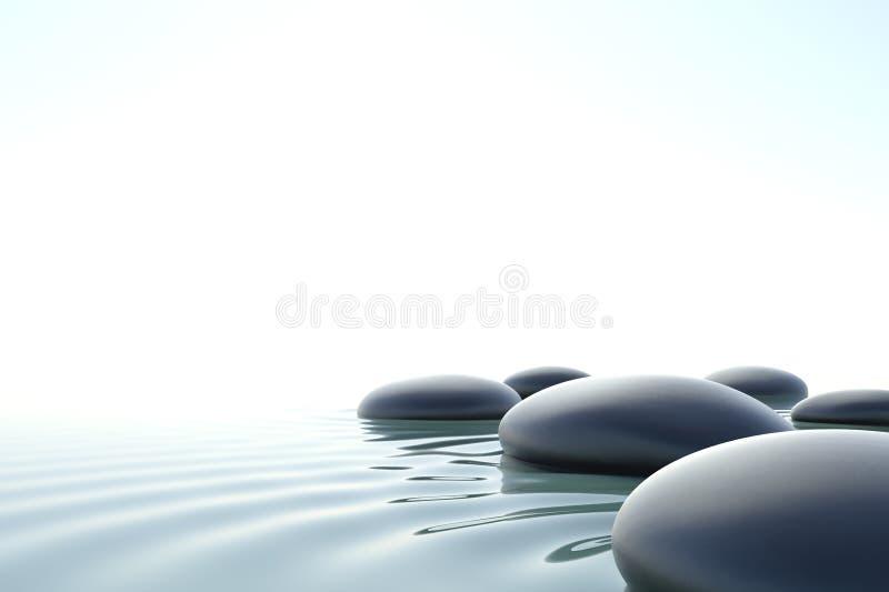 Дзэн воды иллюстрация вектора