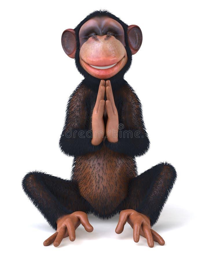 Дзэн обезьяны иллюстрация вектора