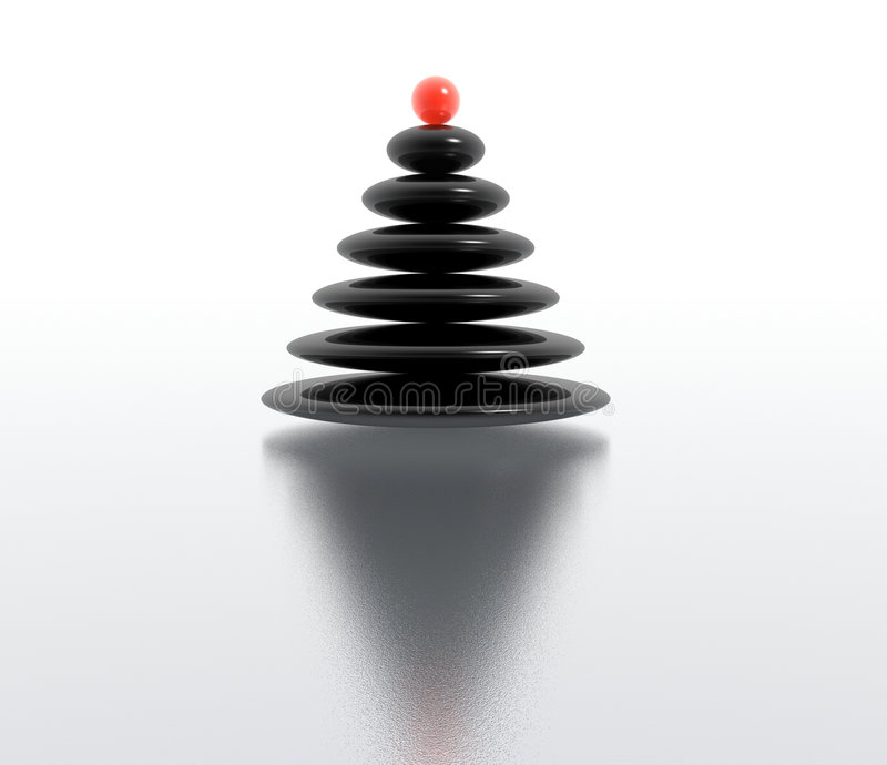 Дзэн рождественской елки иллюстрация вектора