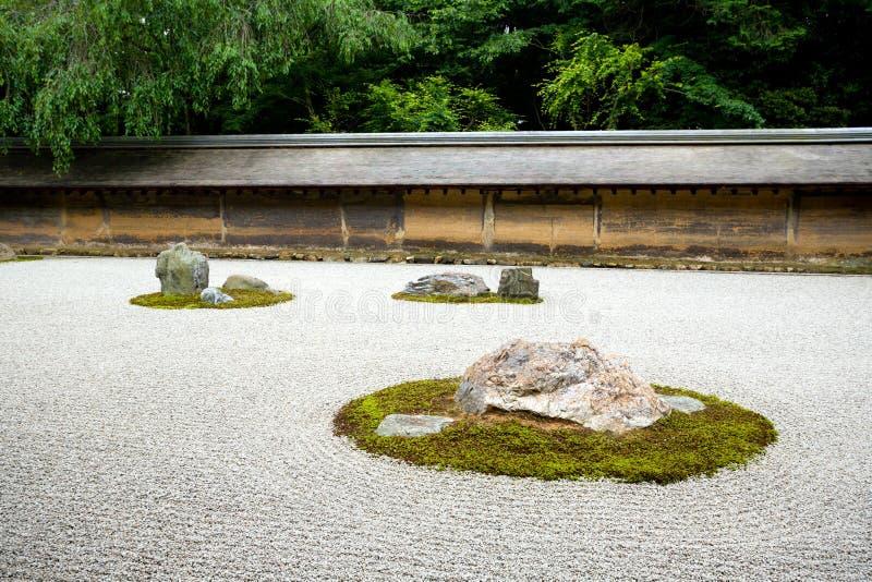 Дзэн утеса японии kyoto сада стоковое изображение rf