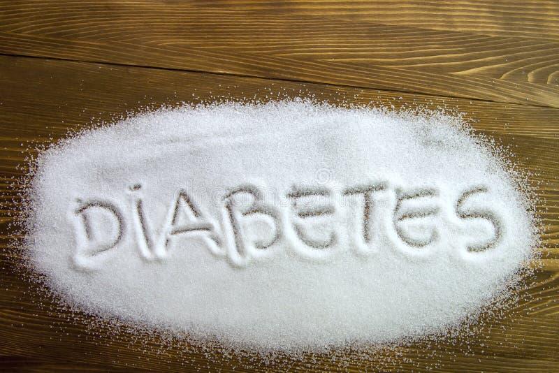 ДИАБЕТ написанный на сахаре стоковое изображение rf