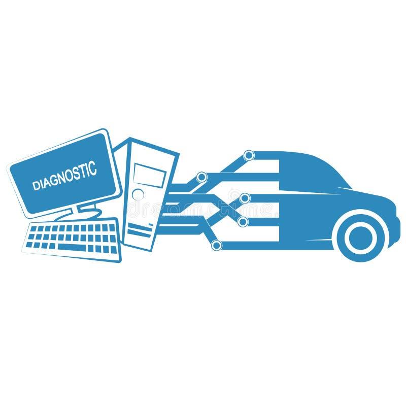 Диагностики компьютера автомобилей иллюстрация штока