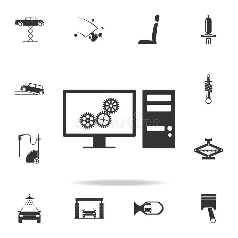 Диагностики компьютера значка автомобиля Детальный комплект значков автомобиля repear Наградной качественный значок графического  бесплатная иллюстрация
