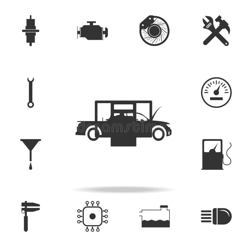 Диагностики компьютера значка автомобиля Детальный комплект значков автомобиля repear Наградной качественный значок графического  иллюстрация штока